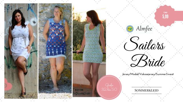 Produktfoto von Almfee zum Nähen für Schnittmuster Sommerkleid Sailor's Bride