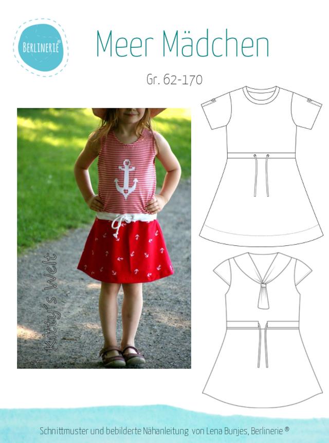Produktfoto von Berlinerie zum Nähen für Schnittmuster Meer Mädchen Kleid