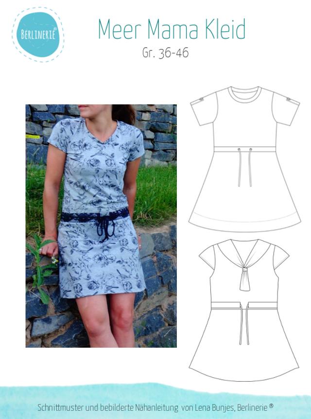 Produktfoto von Berlinerie zum Nähen für Schnittmuster Meer Mama Kleid