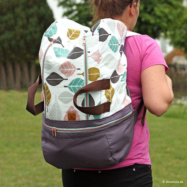 Produktfoto von shesmile zum Nähen für Schnittmuster Rucksack BigKlapPack