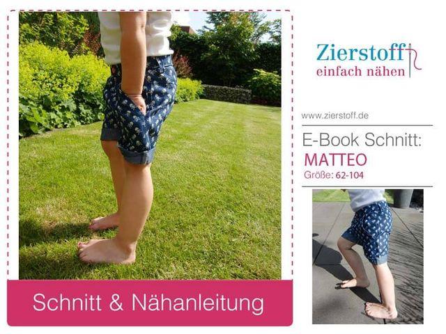 Produktfoto von Zierstoff zum Nähen für Schnittmuster Matteo 62-104