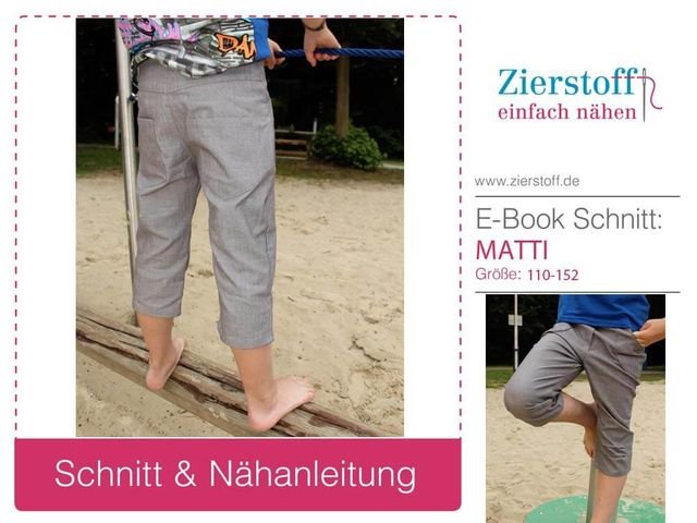 Produktfoto von Zierstoff zum Nähen für Schnittmuster Matti 110-152