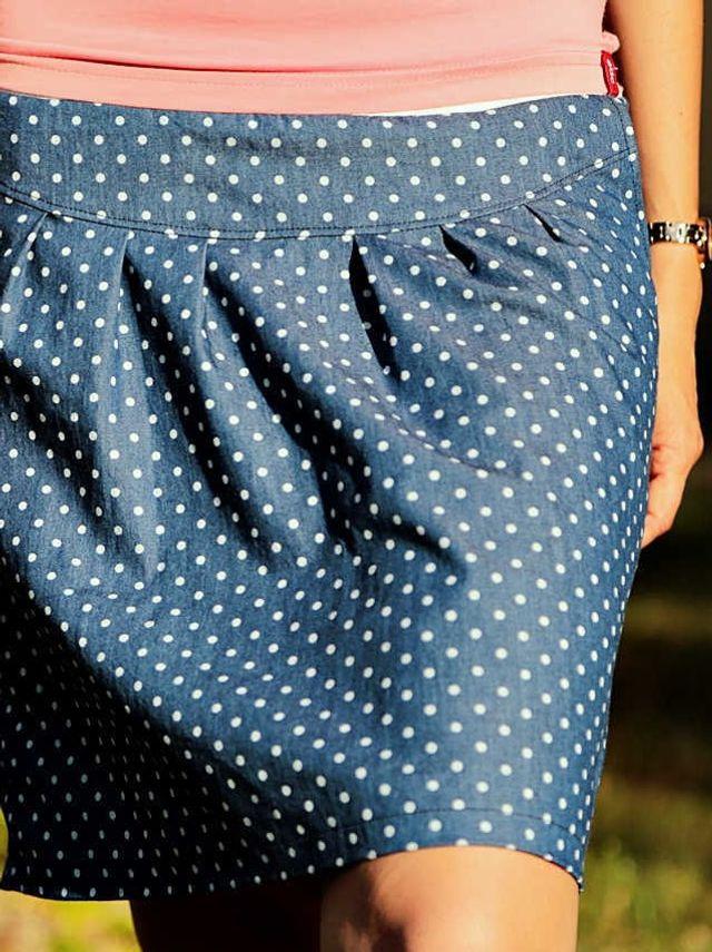 Produktfoto von PRACHTKINDER zum Nähen für Schnittmuster Minirock mit Passe