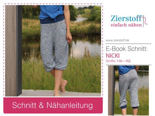 Produktfoto von Zierstoff für Schnittmuster Nicki 110-152