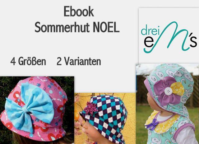 Produktfoto von drei eMs zum Nähen für Schnittmuster Sommerhut Noel