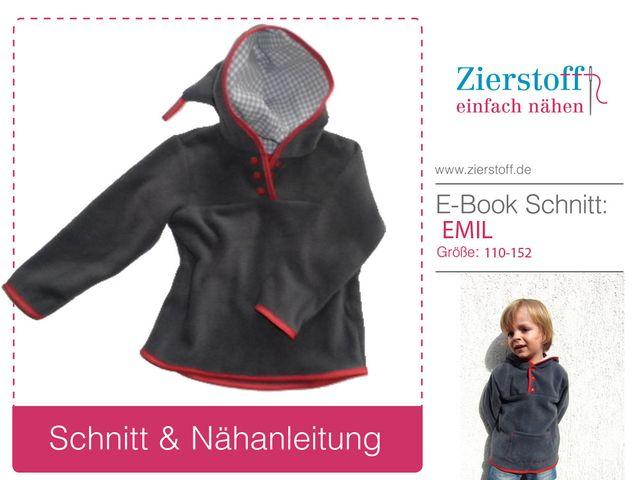 Produktfoto von Zierstoff zum Nähen für Schnittmuster Emil 110-152