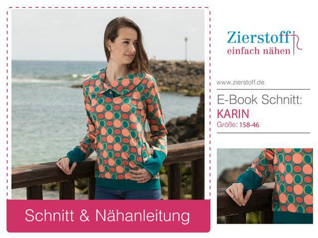 Produktfoto von Zierstoff zum Nähen für Schnittmuster Karin