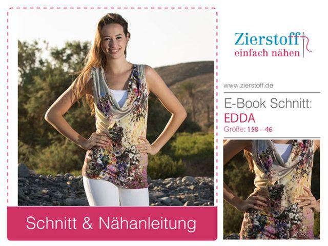 Produktfoto von Zierstoff für Schnittmuster Edda