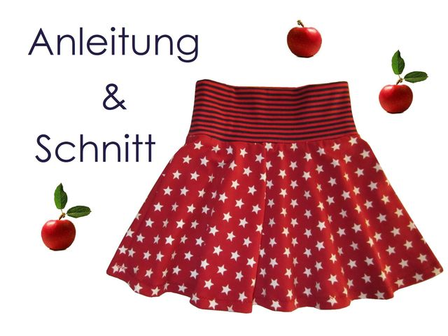 Produktfoto von Lunicum zum Nähen für Schnittmuster Tellerrock Mädchen