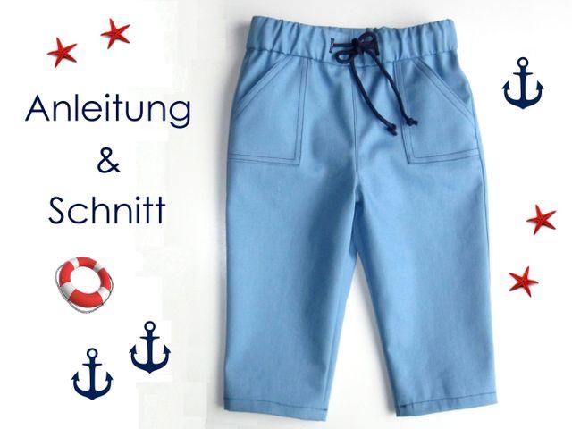 Produktfoto von Lunicum zum Nähen für Schnittmuster Tunnelzug-Hose für Babys