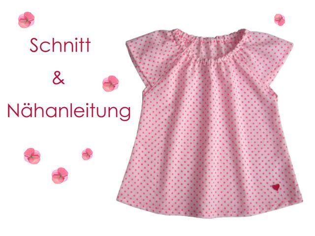 Produktfoto von Lunicum zum Nähen für Schnittmuster Carmen-Bluse Mädchen