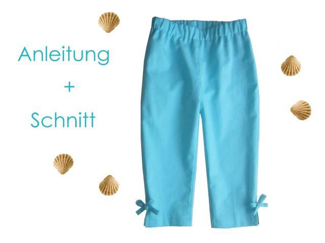 Produktfoto von Lunicum zum Nähen für Schnittmuster Caprihose Kinder