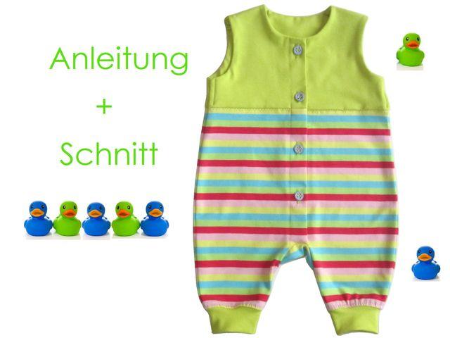 Schnittmuster Baby-Strampler von Lunicum
