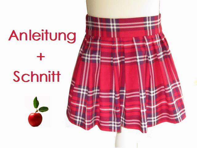 Produktfoto von Lunicum zum Nähen für Schnittmuster Faltenrock Mädchen