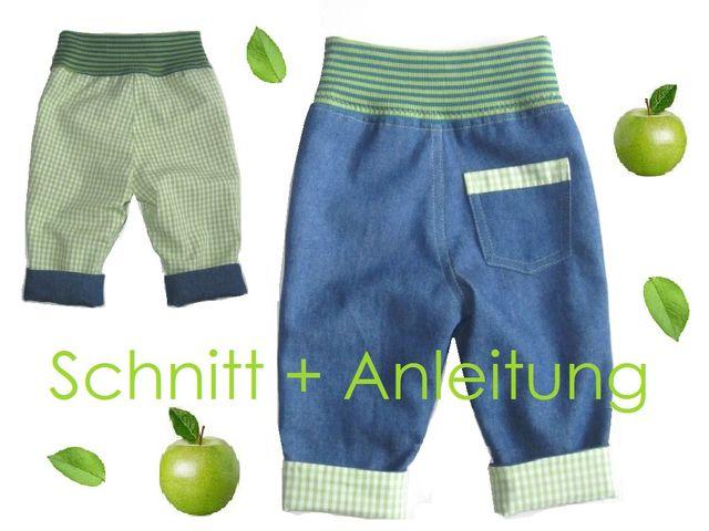Produktfoto von Lunicum zum Nähen für Schnittmuster Wendehose oder gefütterte Hose