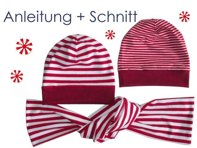 Produktfoto von Lunicum für Schnittmuster Beanie Mütze 2 Varianten + Schal