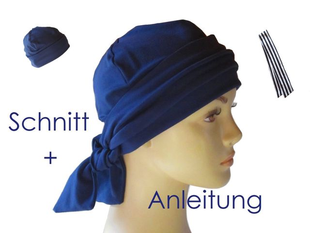 Schnittmuster Band-Mütze für Alopecia, Chemo von Lunicum