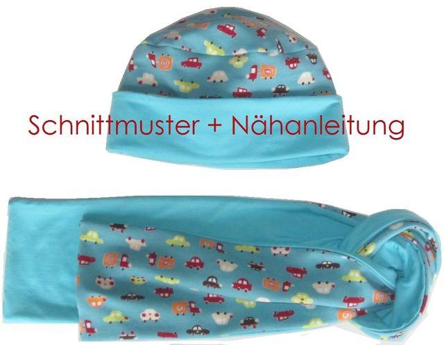 Produktfoto von Lunicum zum Nähen für Schnittmuster 4-Varianten-Mütze + Schal