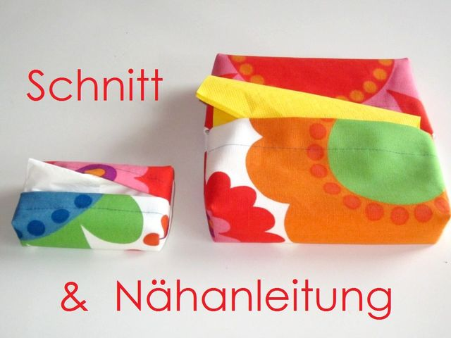 Produktfoto von Lunicum zum Nähen für Schnittmuster Servietten-Box + Taschentücher-Box