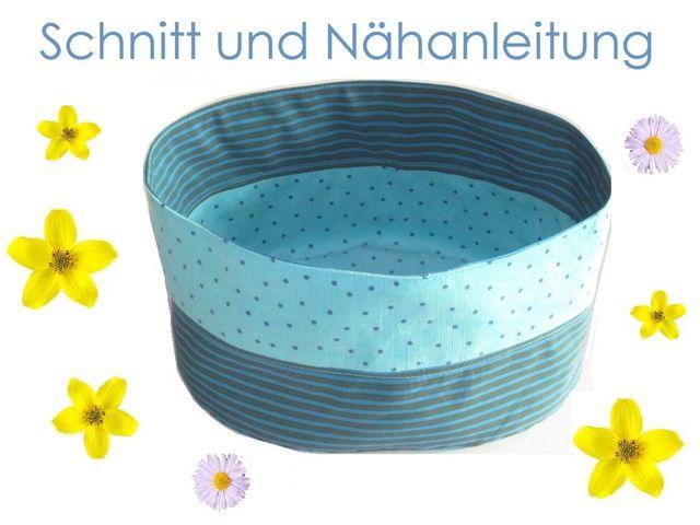 Produktfoto von Lunicum zum Nähen für Schnittmuster Ovales Stoffkörbchen