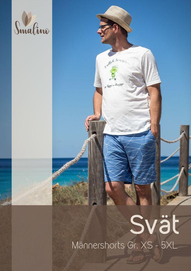 Produktfoto von Smalino zum Nähen für Schnittmuster Männer-Shorts Svät