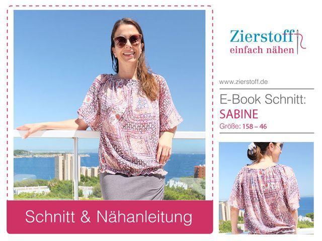 Produktfoto von Zierstoff für Schnittmuster Sabine 158-46