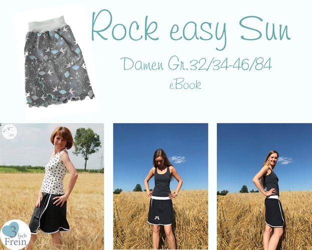 Produktfoto von 3fachFrein zum Nähen für Schnittmuster Rock easy Sun
