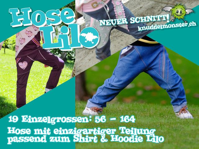 Produktfoto von Knuddelmonster zum Nähen für Schnittmuster Hose Lilo