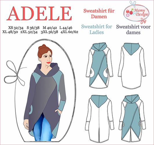 Produktfoto von Mamu Design zum Nähen für Schnittmuster Adele