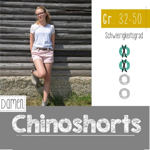 Produktfoto von FeeFee zum Nähen für Schnittmuster Chino Shorts Damen
