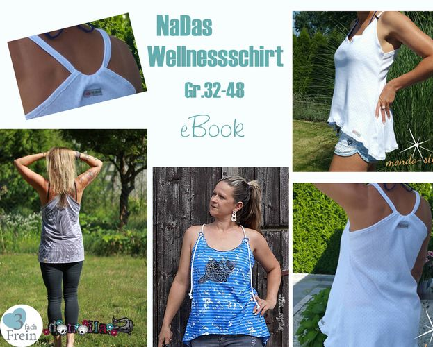 Produktfoto von 3fachFrein für Schnittmuster NaDas Wellnessshirt