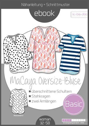 Produktfoto von ki-ba-doo zum Nähen für Schnittmuster Oversize-Bluse MaCaya