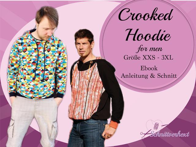 Produktfoto von Schnittverhext zum Nähen für Schnittmuster Crooked Hoodie for men