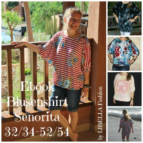 Produktfoto von Libella Fashion für Schnittmuster Blusenshirt Senorita