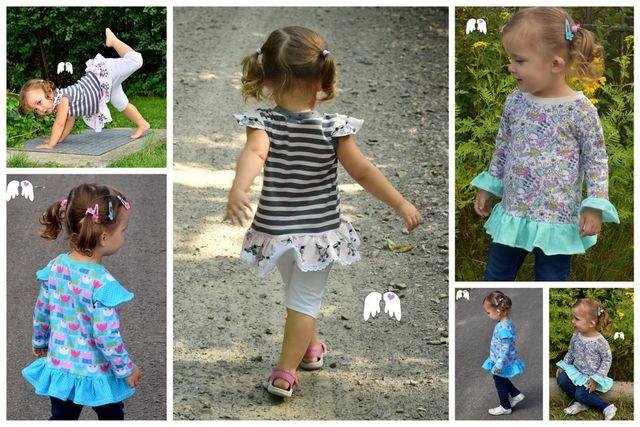 Produktfoto von Engelinchen zum Nähen für Schnittmuster Shirt Lilli