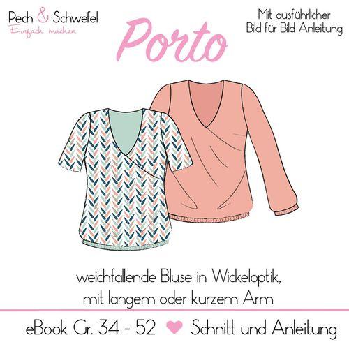 Produktfoto von Pech & Schwefel zum Nähen für Schnittmuster Bluse Porto
