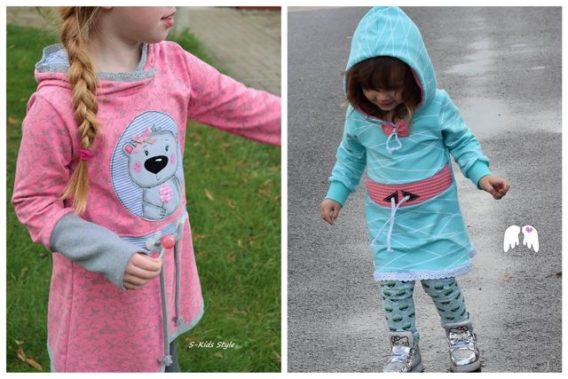 Produktfoto von Engelinchen zum Nähen für Schnittmuster Hoodie-Tunika Zoe