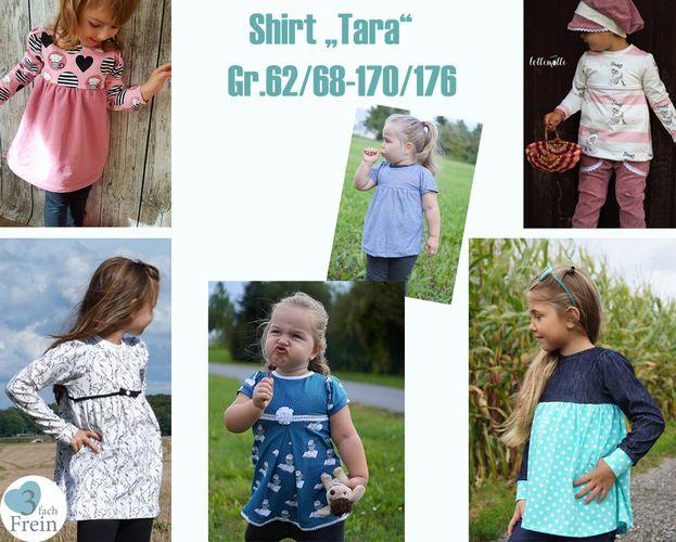 Produktfoto von 3fachFrein zum Nähen für Schnittmuster Shirt Tara