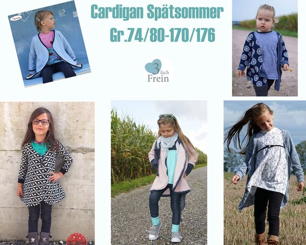 Produktfoto von 3fachFrein zum Nähen für Schnittmuster Cardigan Spätsommer