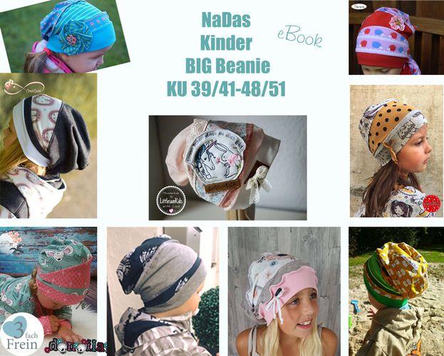 Produktfoto von 3fachFrein zum Nähen für Schnittmuster NaDas Kinder BIG Beanie