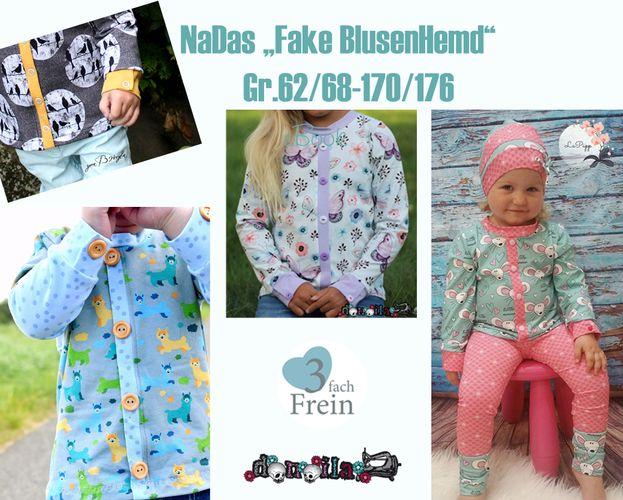 Produktfoto von 3fachFrein zum Nähen für Schnittmuster NaDas Fake BlusenHemd