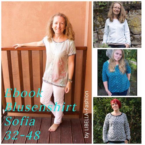 Produktfoto von Libella Fashion zum Nähen für Schnittmuster Blusenshirt Sofia