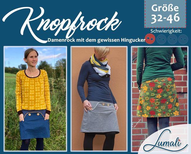 Produktfoto von Lumali zum Nähen für Schnittmuster Knopfrock Damen 32 - 46