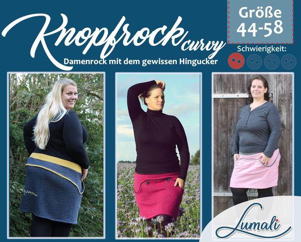 Produktfoto von Lumali zum Nähen für Schnittmuster Knopfrock curvy 44 - 58