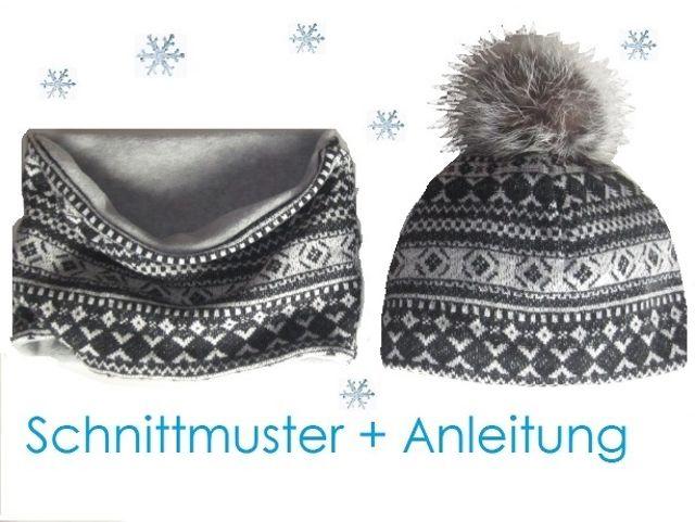 Produktfoto von Lunicum zum Nähen für Schnittmuster Pudel-Mütze und Schlauchschal