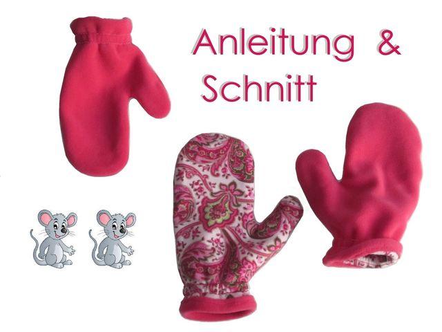 Produktfoto von Lunicum zum Nähen für Schnittmuster Handschuhe in 7 Größen
