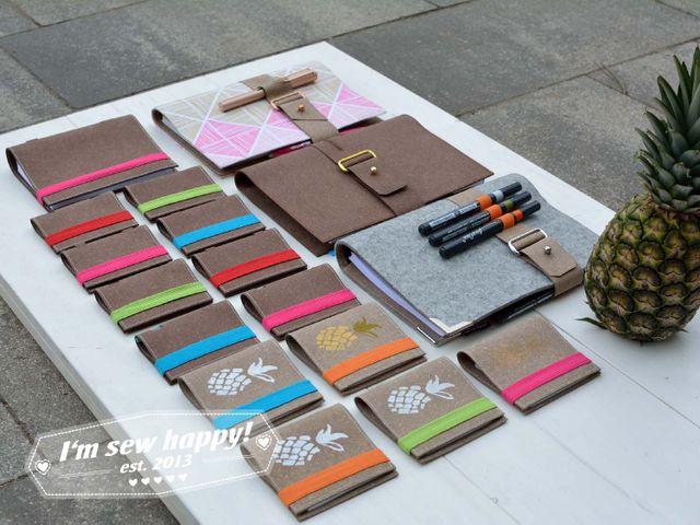 Produktfoto von I'm sew happy! für Schnittmuster Notizbuchhülle
