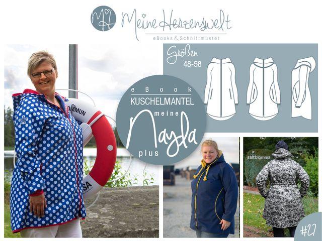 Produktfoto von Meine Herzenswelt zum Nähen für Schnittmuster Mantel meine Nayla plus