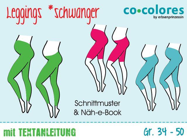 Produktfoto von Erbsenprinzessin zum Nähen für Schnittmuster Schwanger Leggings