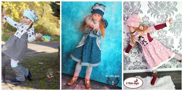 Produktfoto von Engelinchen zum Nähen für Schnittmuster Strickkleid Schneeflöckchen